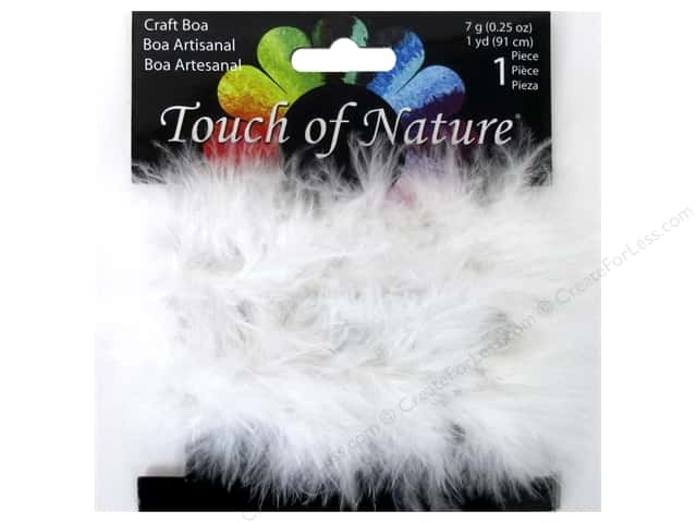 Midwest Design Fluffy Craft Marabou Feather Boa 1 yd. White