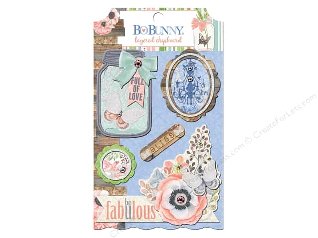 Bo Bunny Layered Chipboard Stickers Butterfly Kisses