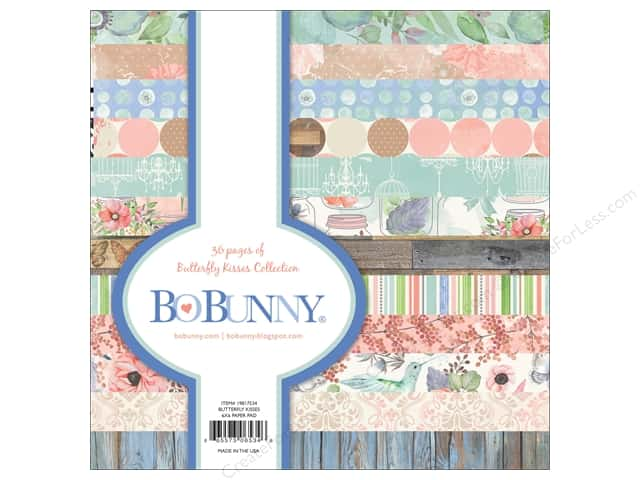 Bo Bunny 6 x 6 in. Paper Pad Butterfly Kisses