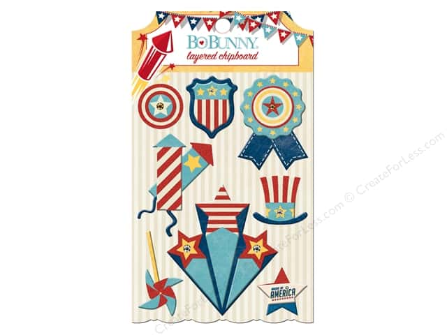 Bo Bunny Layered Chipboard Stickers Firecracker