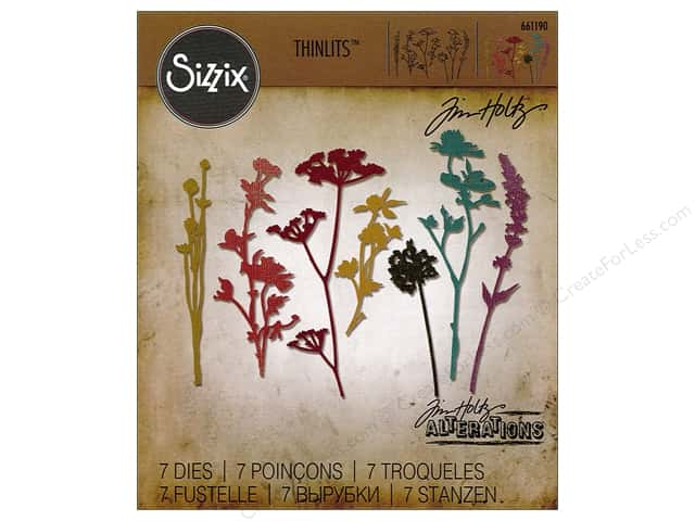 Sizzix Thinlits Die Set 7 pc. Wildflowers