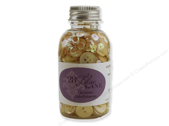 Buttons Galore 28 Lilac Lane Embellishment Bottle Hello Sunshine