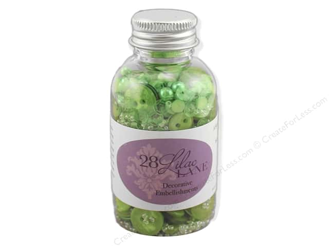 Buttons Galore 28 Lilac Lane Embellishment Bottle O' Christmas Tree