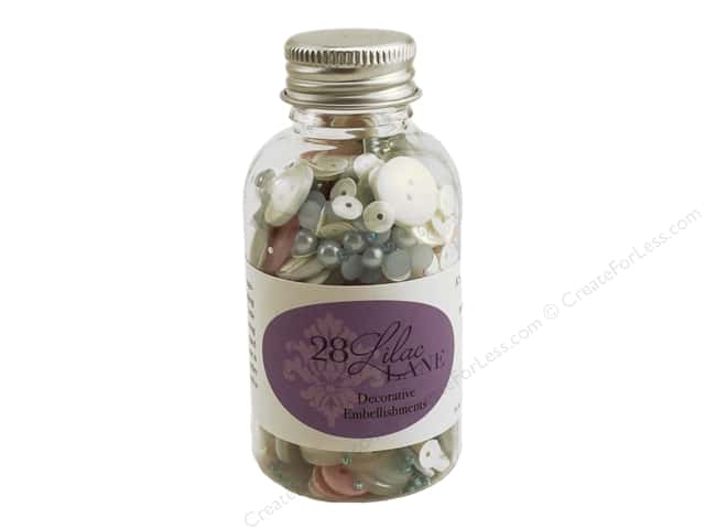 Buttons Galore 28 Lilac Lane Embellishment Bottle Cotton Candy