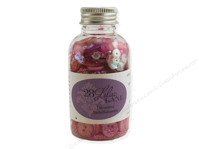 Buttons Galore 28 Lilac Lane Embellishment Bottle Pretty Princess