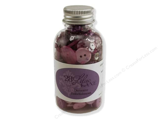 Buttons Galore 28 Lilac Lane Embellishment Bottle On Lilac Lane