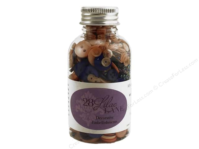 Buttons Galore 28 Lilac Lane Embellishment Bottle Just Peachy