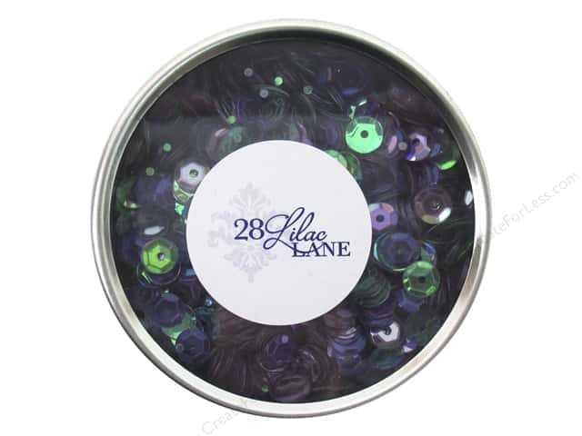 Buttons Galore 28 Lilac Lane Sequin Tin Bold & Bright