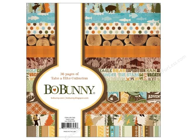 Bo Bunny 6 x 6 in. Paper Pad Take A Hike