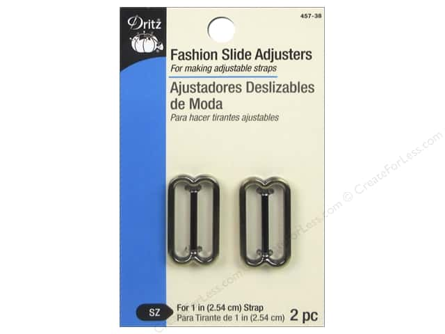 Dritz Fashion Slide Adjusters 1 in. Antique Brass 2 pc.