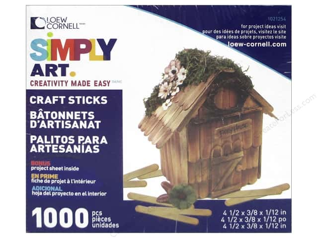Loew Cornell Simply Art Craft Sticks 1000 pc.