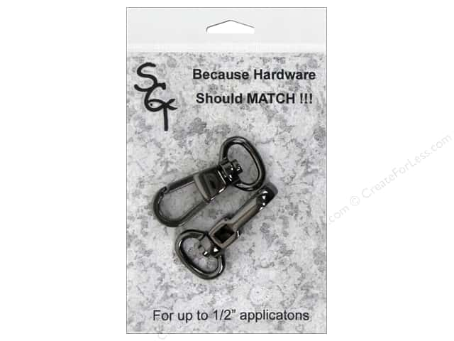 "Sisters Common Thread Hardware Swivel Clip .5"" Gunmetal 2pc"