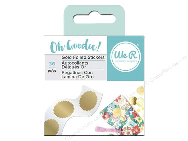 We R Memory Collection Oh Goodie Sticker Starburst Gold Foil