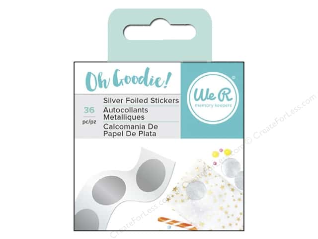 We R Memory Collection Oh Goodie Sticker Circle Silver Foil