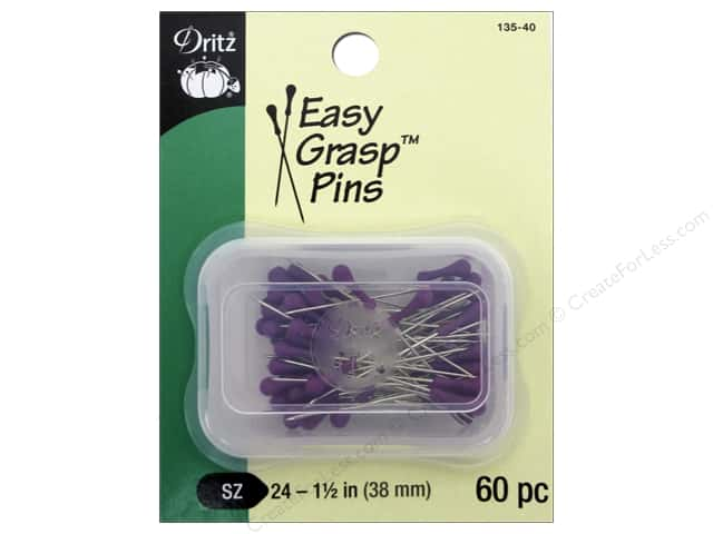 Dritz Easy Grasp Pins Size 24 60 pc.