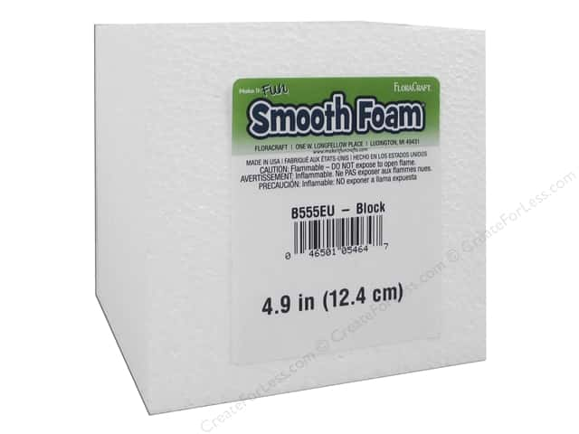 FloraCraft Smooth Foam Block 5 x 5 x 5 in.