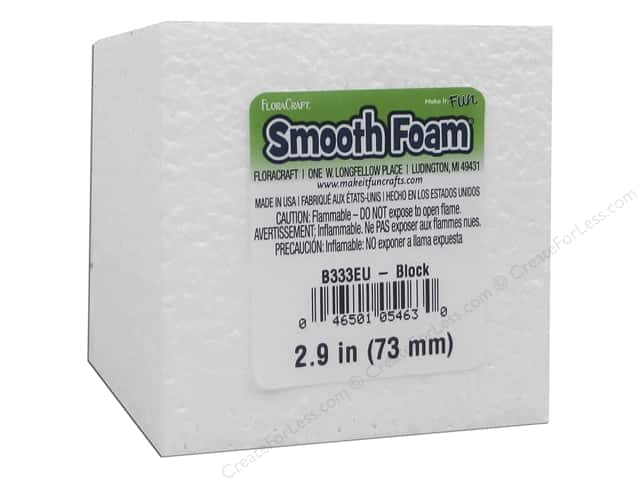 "FloraCraft Smooth Foam Block 3""x 3""x 3"""