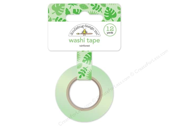Doodlebug Washi Tape 5/8 in. x 12 yd. Fun In The Sun Rainforest