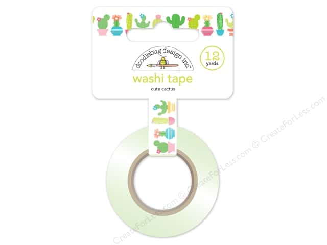 Doodlebug Washi Tape 5/8 in. x 12 yd. Fun In The Sun Cute Cactus