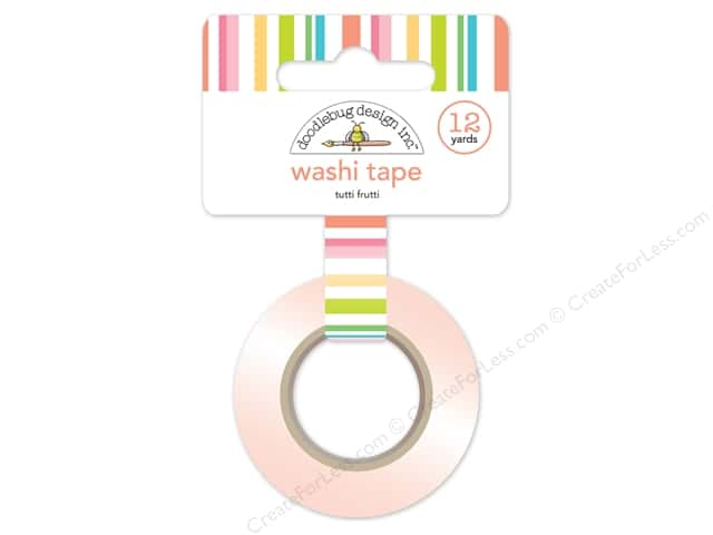 Doodlebug Washi Tape 5/8 in. x 12 yd. Fun In The Sun Tutti Frutti