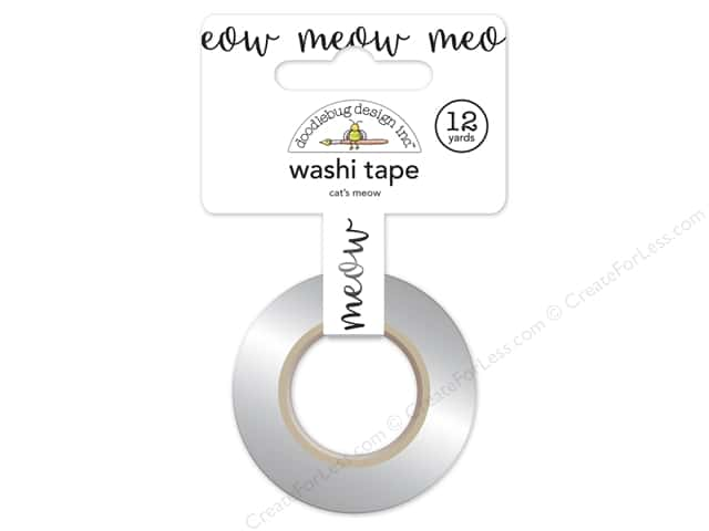 Doodlebug Washi Tape 5/8 in. x 12 yd. Kitten Smitten Cat's Meow