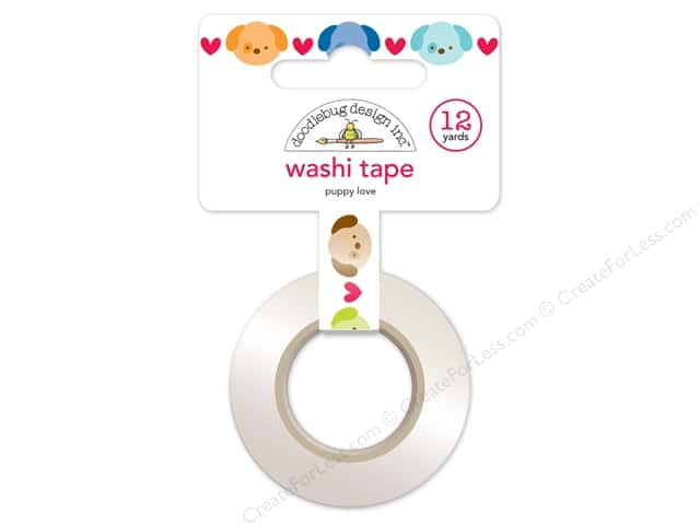 Doodlebug Washi Tape 5/8 in. x 12 yd. Puppy Love