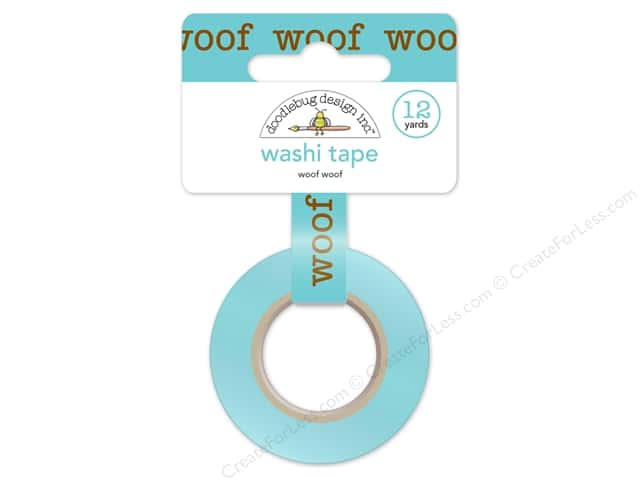 Doodlebug Washi Tape 5/8 in. x 12 yd. Puppy Love Woof Woof