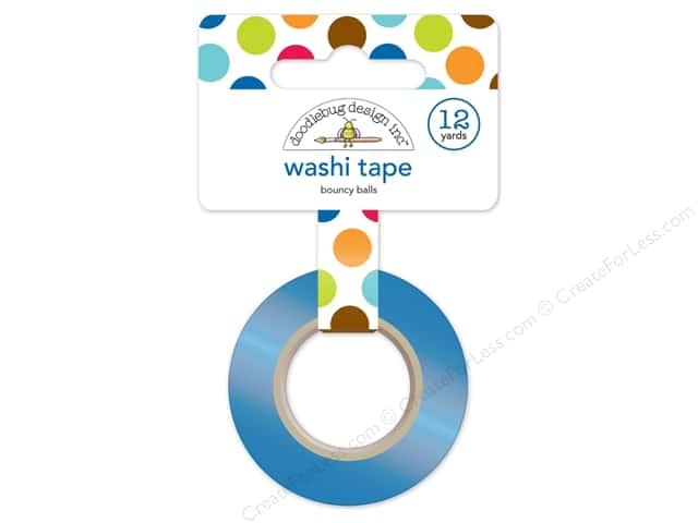 Doodlebug Washi Tape 5/8 in. x 12 yd. Puppy Love Bouncy Balls