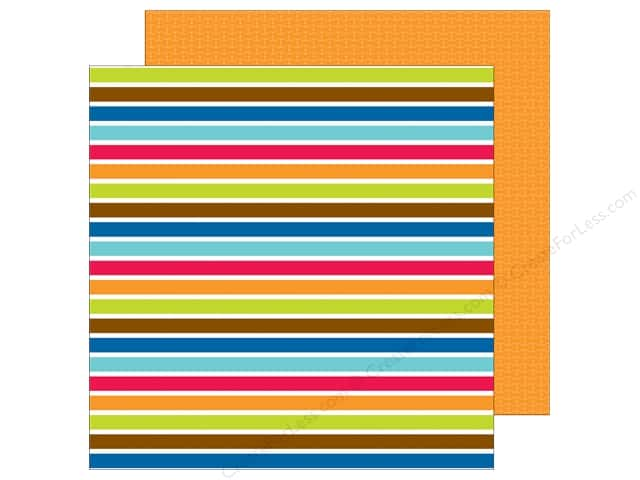 Doodlebug 12 x 12 in. Paper Puppy Love Sparky Stripe (25 sheets)