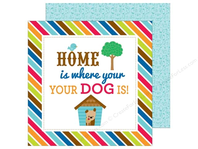 Doodlebug 12 x 12 in. Paper Puppy Love Doggone Cute