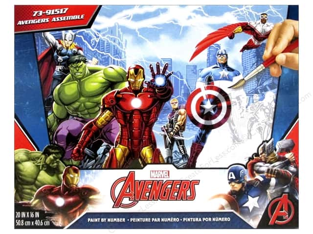"Paintworks Paint By Number 20""x 16"" Avengers Assemble"
