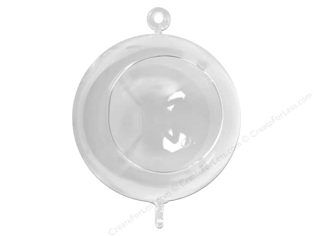 "Midwest Design Decor Glass Hanging Ball 6"" With 2 hooks 1pc (3 pieces)"