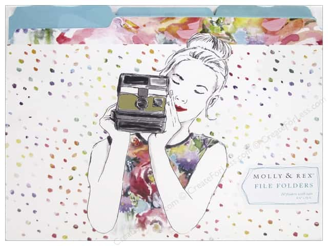 Molly & Rex File Folders 10 pc. Camera Girl