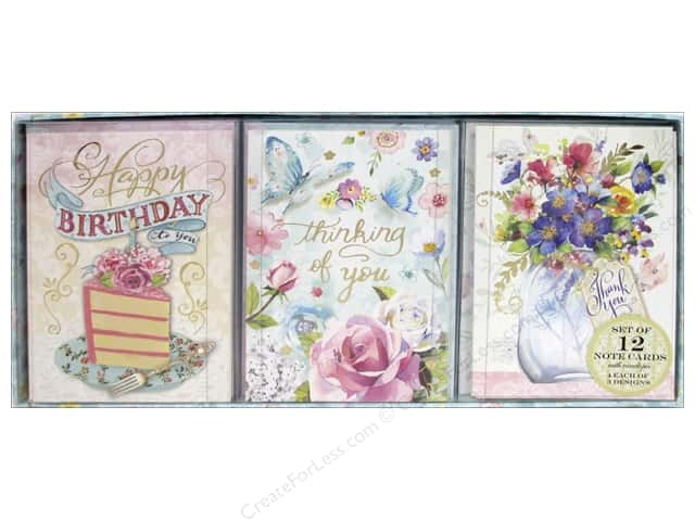 Punch Studio Note Cards Trio Joyful Wishes