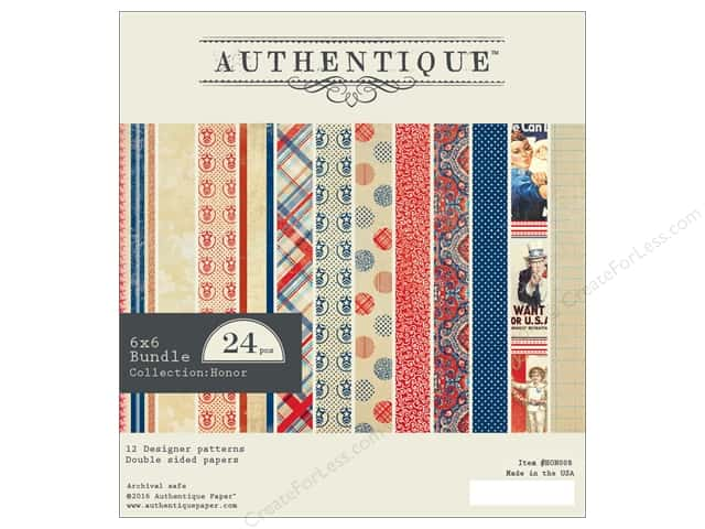 Authentique 6 x 6 in. Paper Bundle Honor