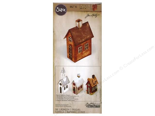 Sizzix Bigz Dies XL Village Brownstone by Tim Holtz