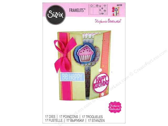 Sizzix Framelits Die Set 17 pc. Half A2 Card