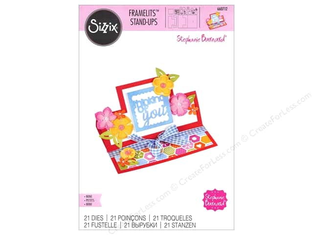 Sizzix Framelits Die Set 21 pc. Thinking of You Mini Stand-Ups Card