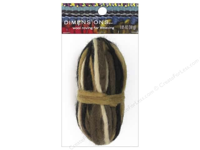 Dimensions 100% Wool Roving Weaving Pencil Variegated Brown