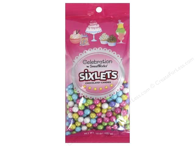 SweetWorks Celebration Sixlets 14 oz. Shimmer Spring