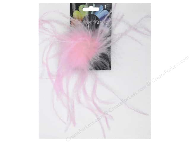 "Midwest Design Clip Ostrich Fluffy 4"" Light Pink"