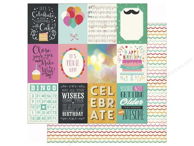 Echo Park 12 x 12 in. Paper Party Time 3x4 Journaling Cards (25 sheets)