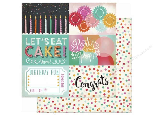 Echo Park 12 x 12 in. Paper Party Time 4x6 Journaling Cards (25 sheets)