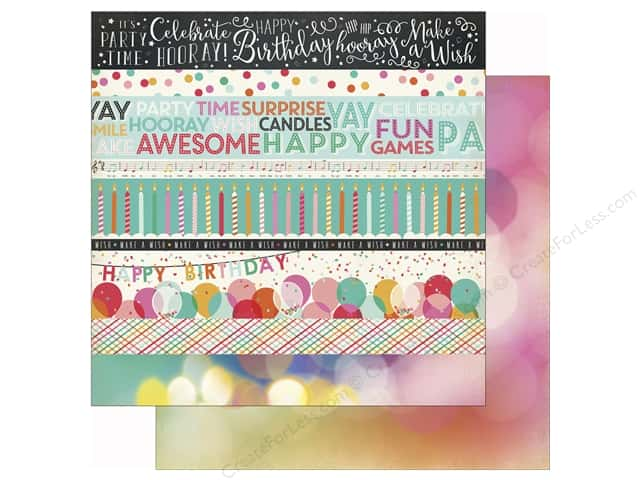 Echo Park 12 x 12 in. Paper Party Time  Border Strips (25 sheets)