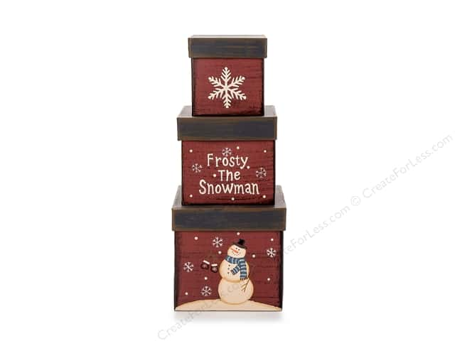 Darice Decor Paper Box Set Square Frosty 3pc
