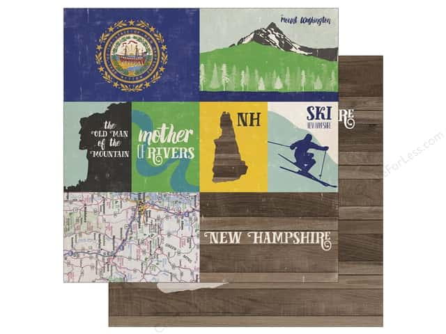 Echo Park 12 x 12 in. Paper Stateside New Hampshire (25 sheets)