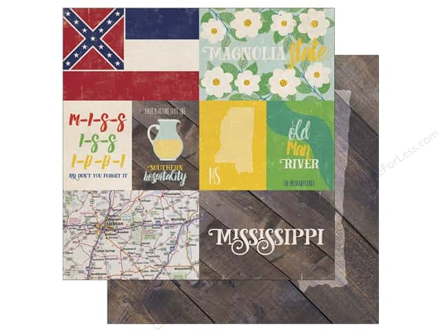 Echo Park 12 x 12 in. Paper Stateside Mississippi (25 sheets)