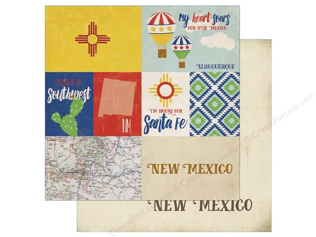 Echo Park 12 x 12 in. Paper Stateside New Mexico (25 sheets)