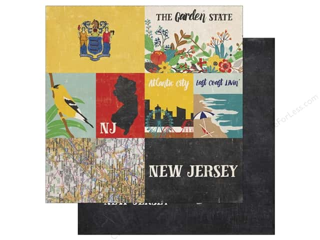 Echo Park 12 x 12 in. Paper Stateside New Jersey (25 sheets)