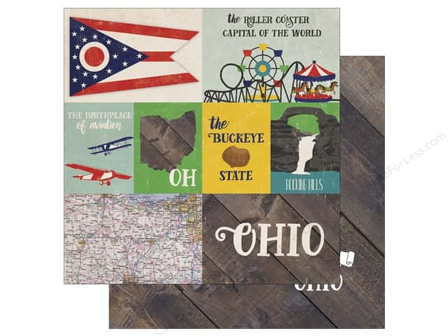 Echo Park 12 x 12 in. Paper Stateside Ohio (25 sheets)